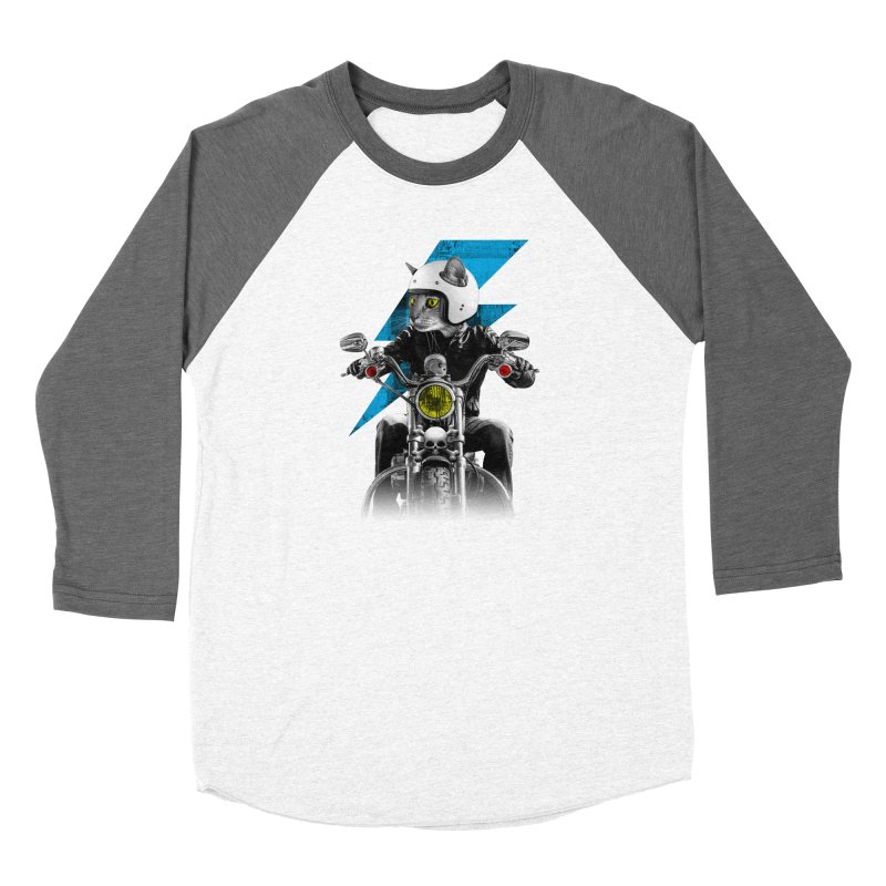 Biker Cat Women's Longsleeve T-Shirt by Joe Conde