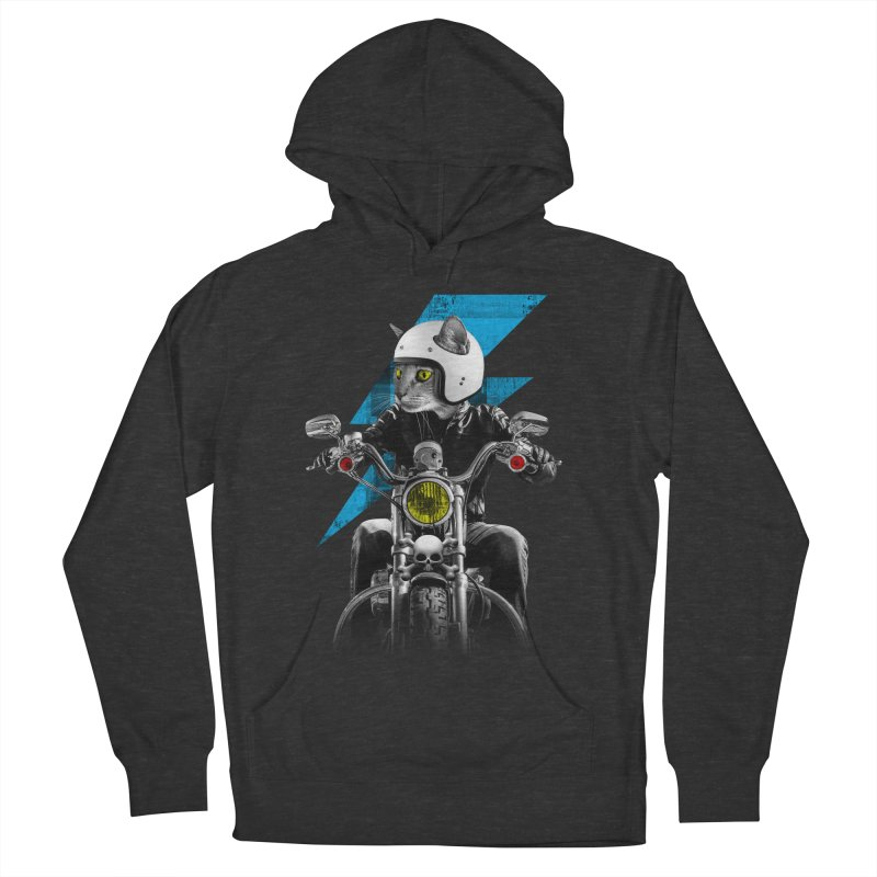 Biker Cat Women's French Terry Pullover Hoody by Joe Conde