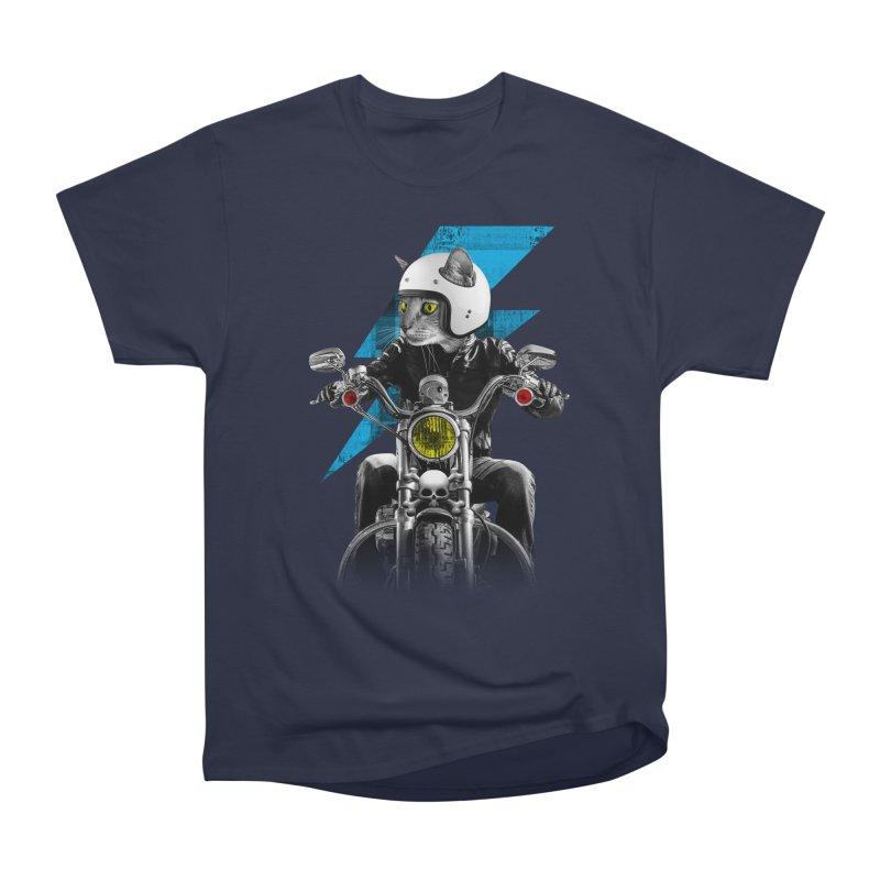 Biker Cat Men's Heavyweight T-Shirt by Joe Conde