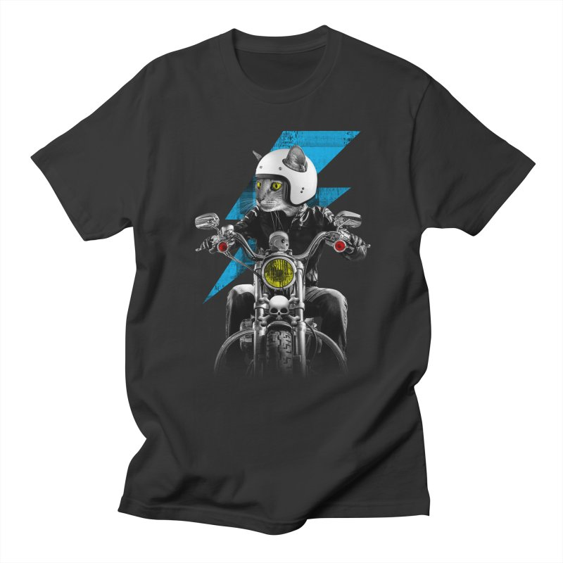 Biker Cat Men's T-Shirt by Joe Conde