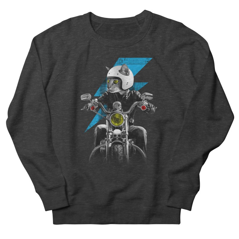 Biker Cat Women's Sweatshirt by Joe Conde