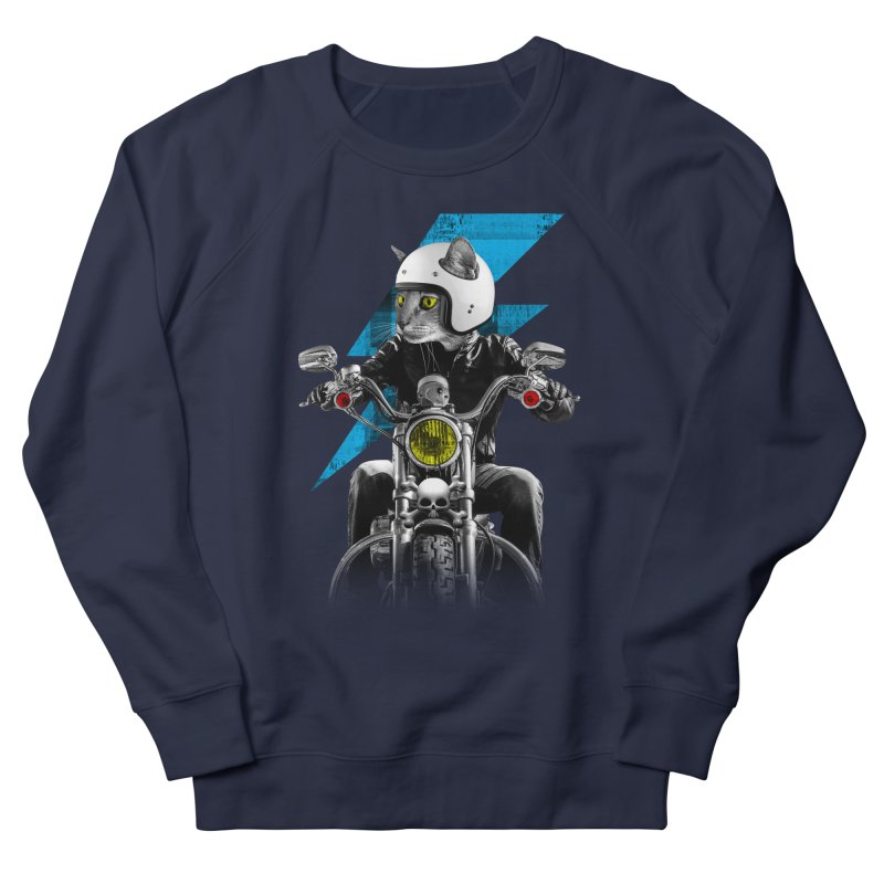 Biker Cat Men's Sweatshirt by Joe Conde