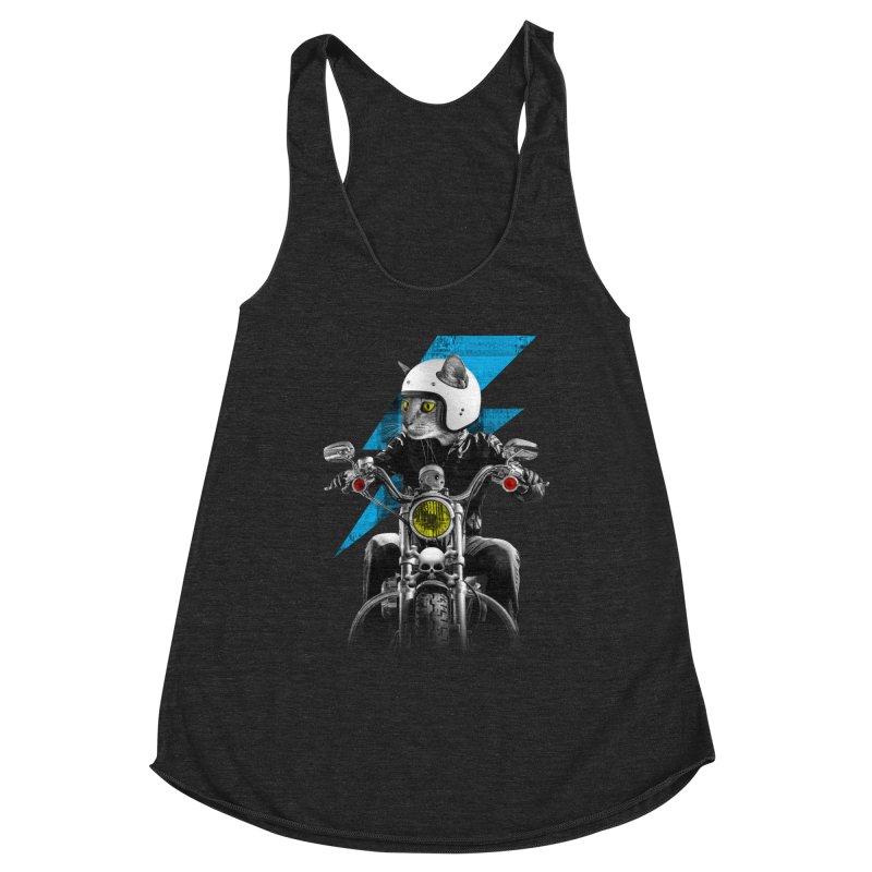 Biker Cat Women's Tank by Joe Conde