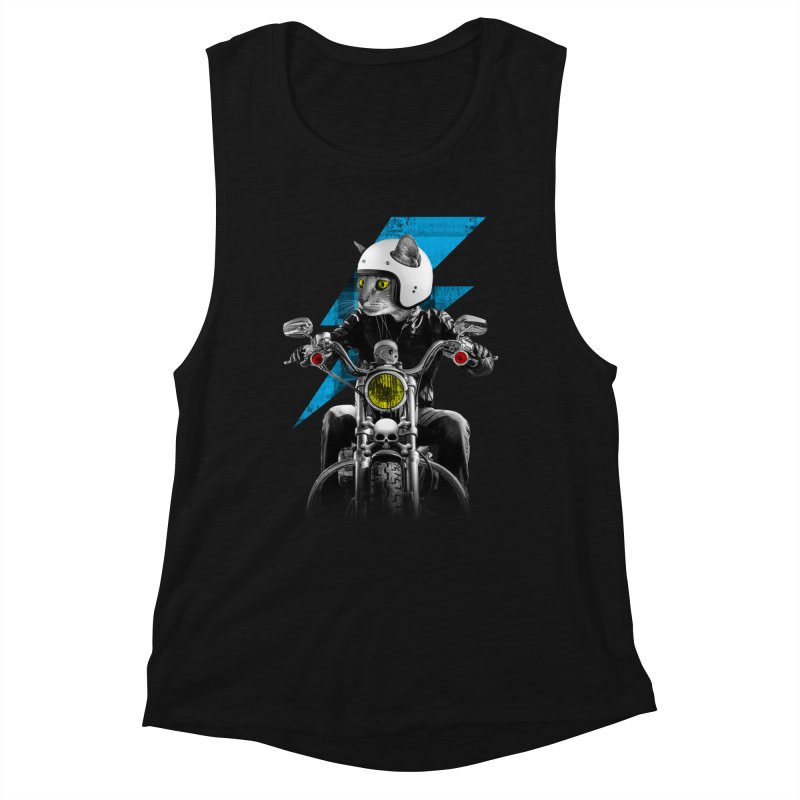 Biker Cat Women's Tank by Joe Conde