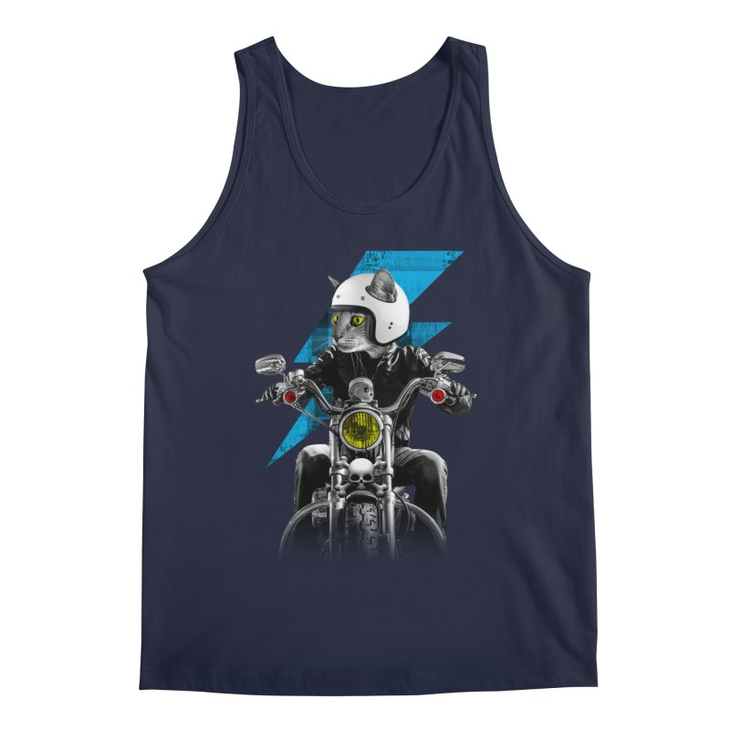 Biker Cat Men's Tank by Joe Conde