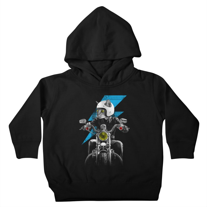 Biker Cat Kids Toddler Pullover Hoody by Joe Conde