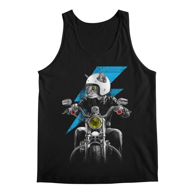 Biker Cat Men's Regular Tank by Joe Conde