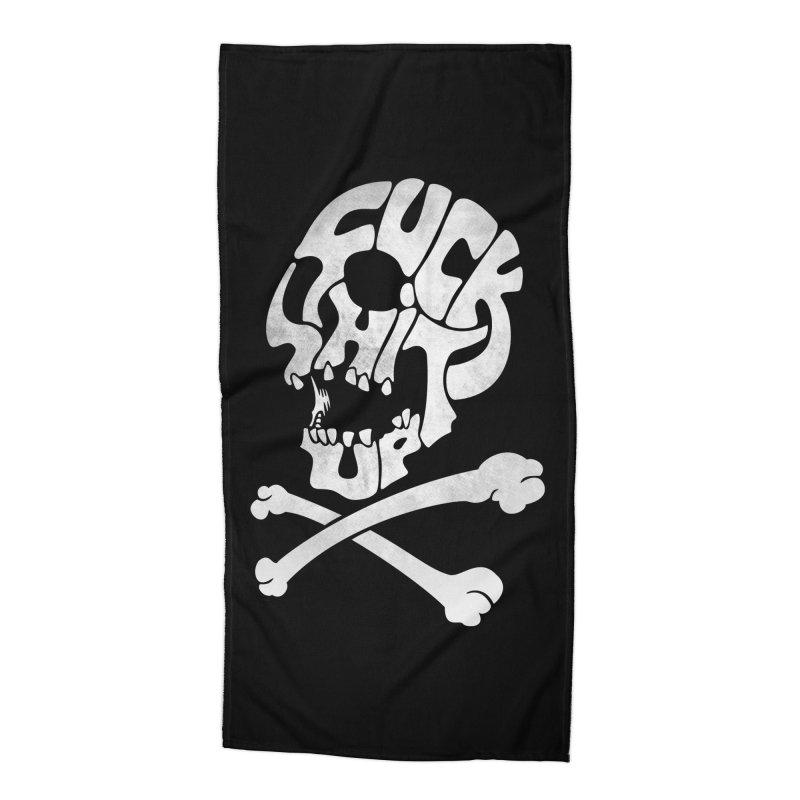 Fuck Shit Up Accessories Beach Towel by Joe Conde