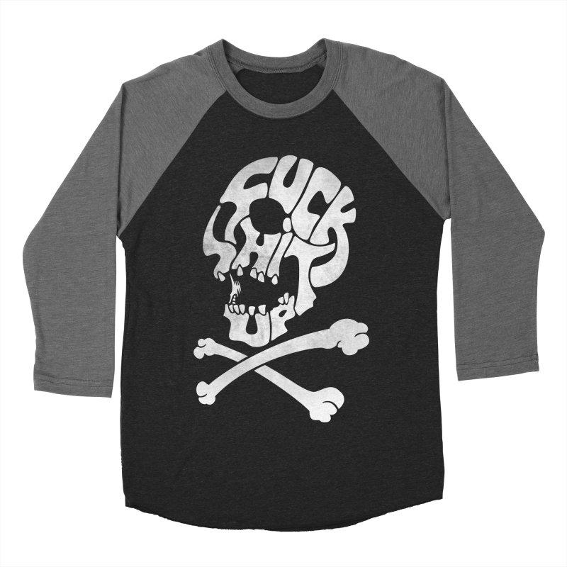 Fuck Shit Up Men's Baseball Triblend T-Shirt by Joe Conde
