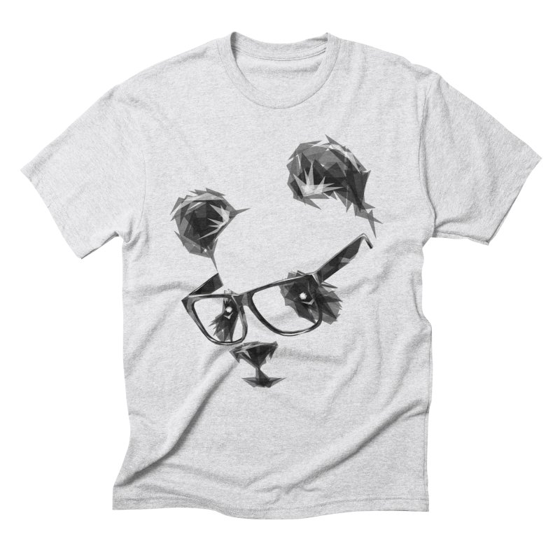 Geometric Panda Men's Triblend T-Shirt by Joe Conde