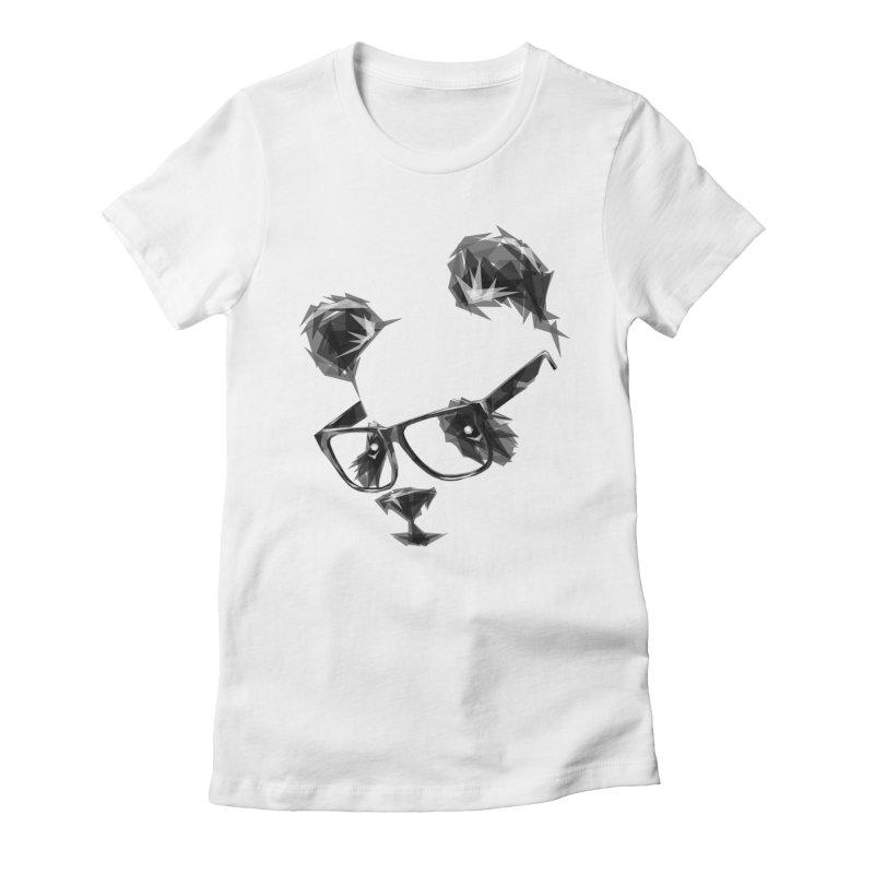Geometric Panda Women's Fitted T-Shirt by Joe Conde