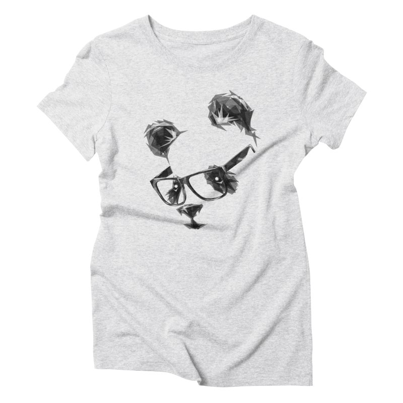 Geometric Panda Women's Triblend T-Shirt by Joe Conde