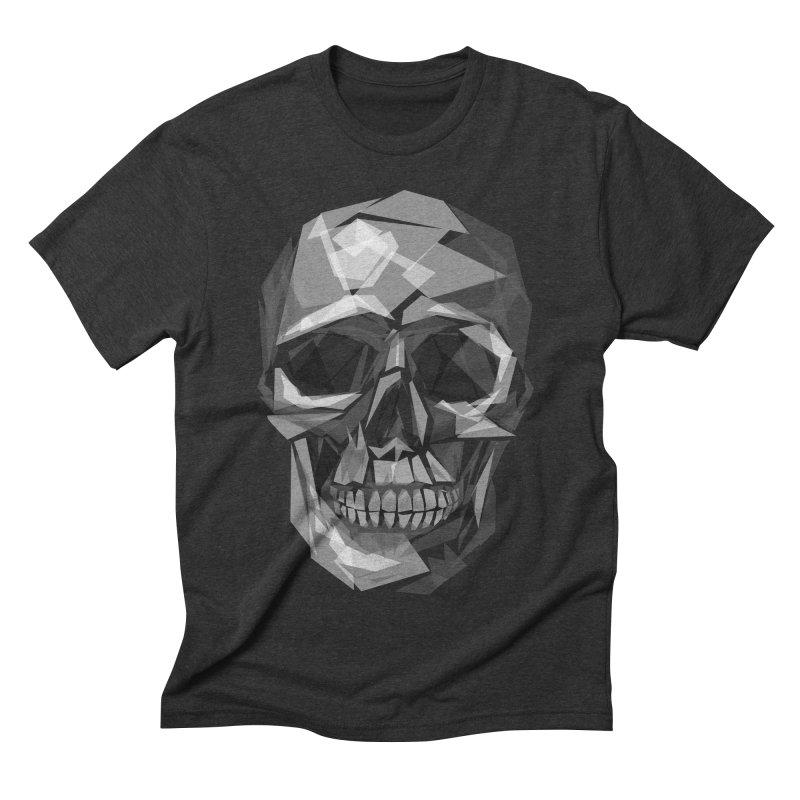 Geometric Skull Men's Triblend T-shirt by Joe Conde