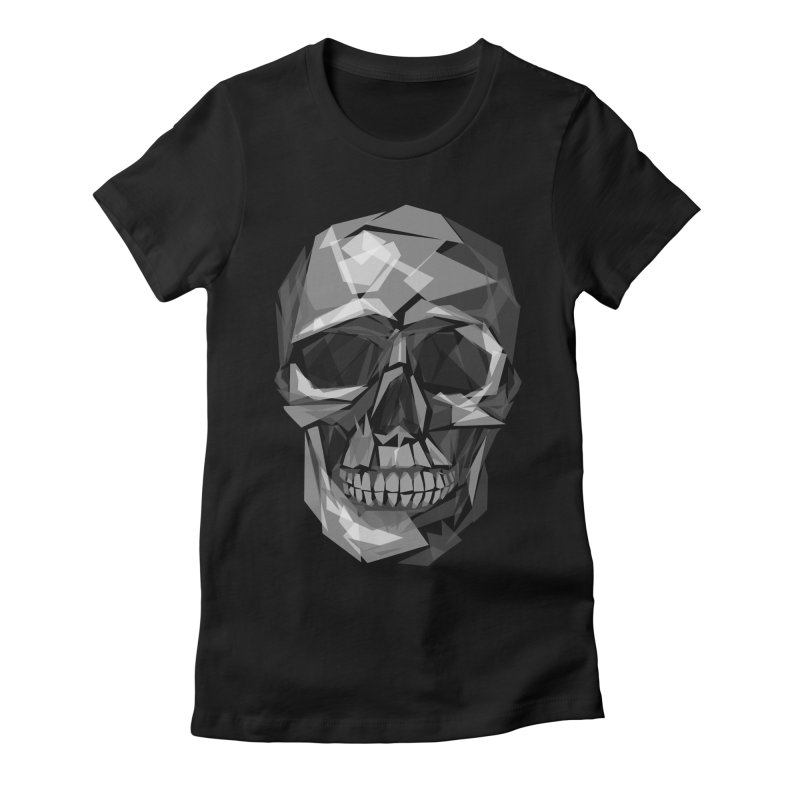 Geometric Skull Women's Fitted T-Shirt by Joe Conde