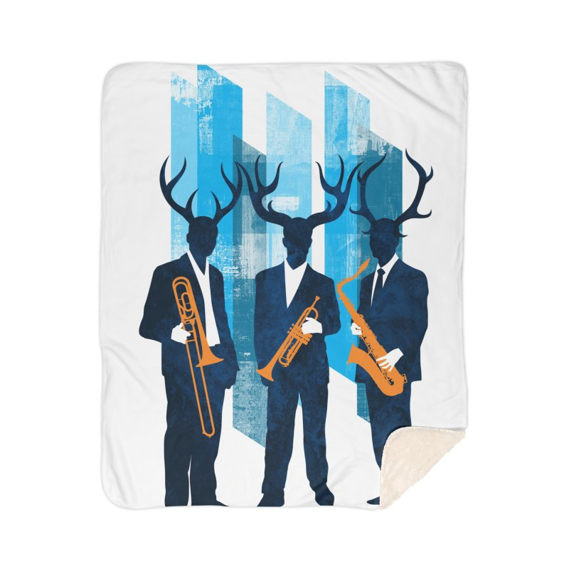 Horn Section Home Sherpa Blanket Blanket by Joe Conde