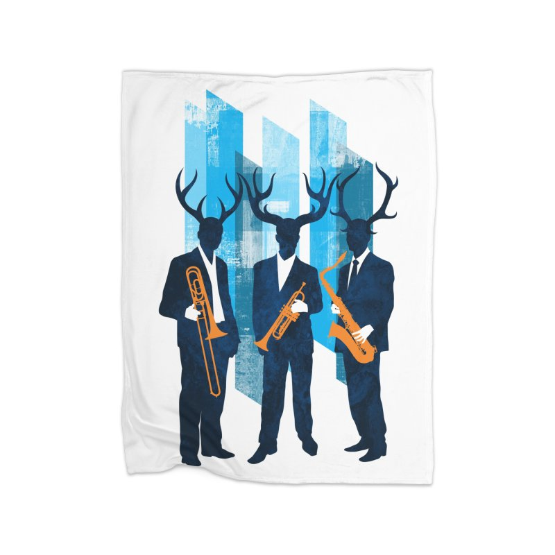 Horn Section Home Fleece Blanket Blanket by Joe Conde