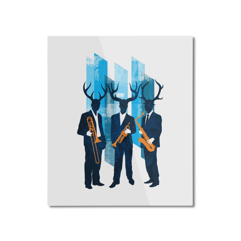 Horn Section Home Mounted Aluminum Print by Joe Conde