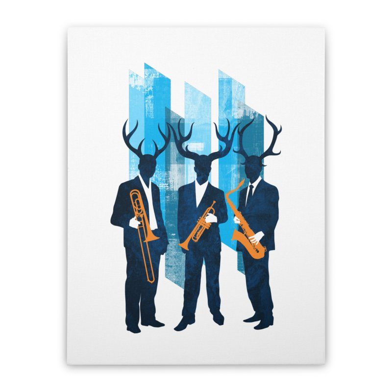 Horn Section Home Stretched Canvas by Joe Conde