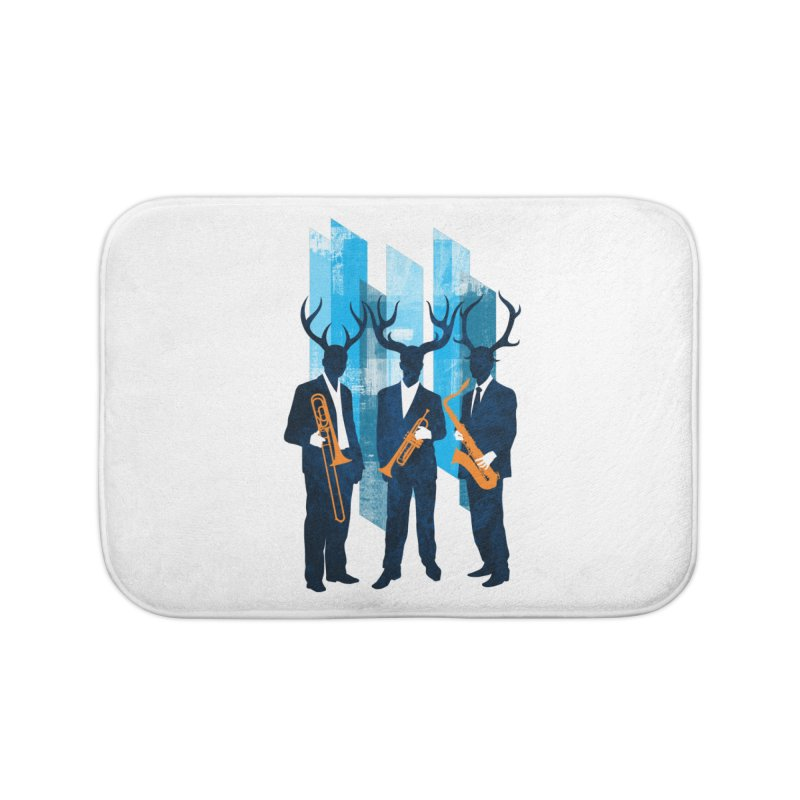 Horn Section Home Bath Mat by Joe Conde