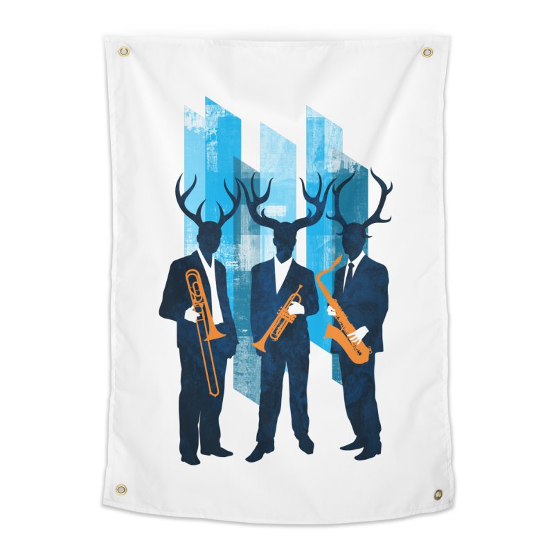 Horn Section Home Tapestry by Joe Conde