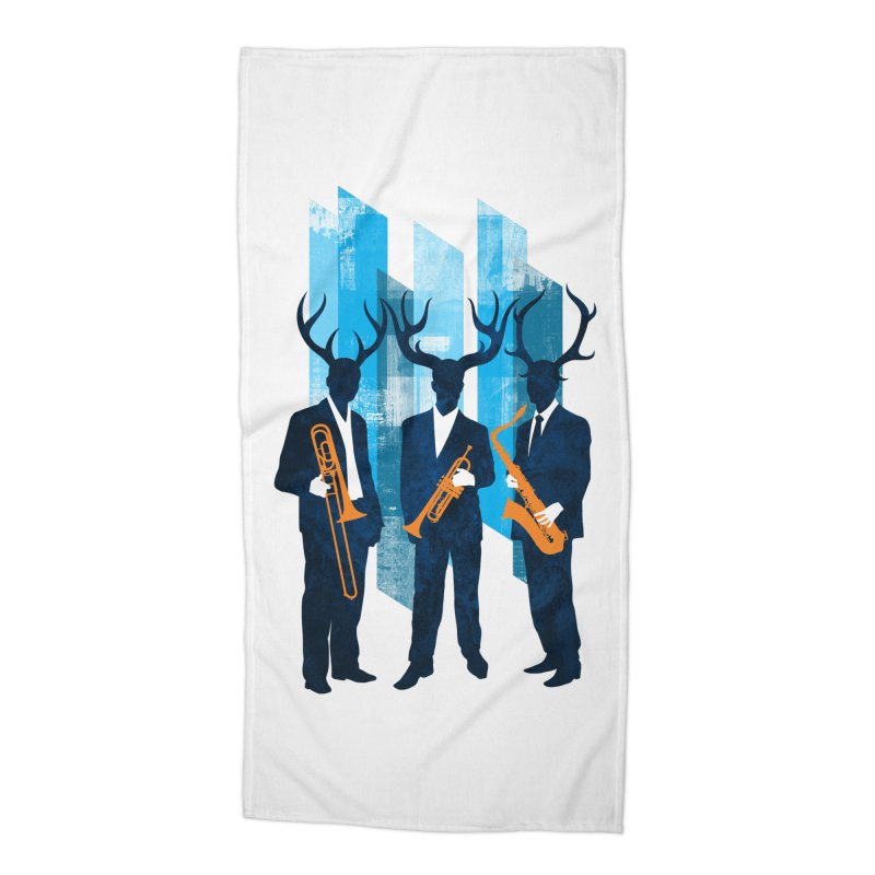 Horn Section Accessories Beach Towel by Joe Conde
