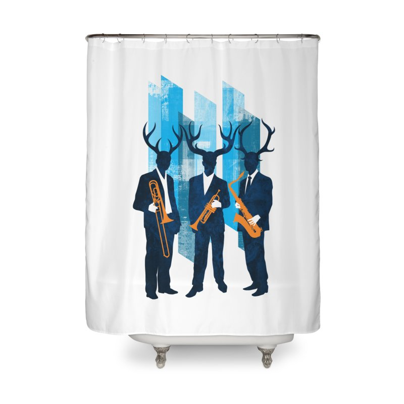 Horn Section Home Shower Curtain by Joe Conde