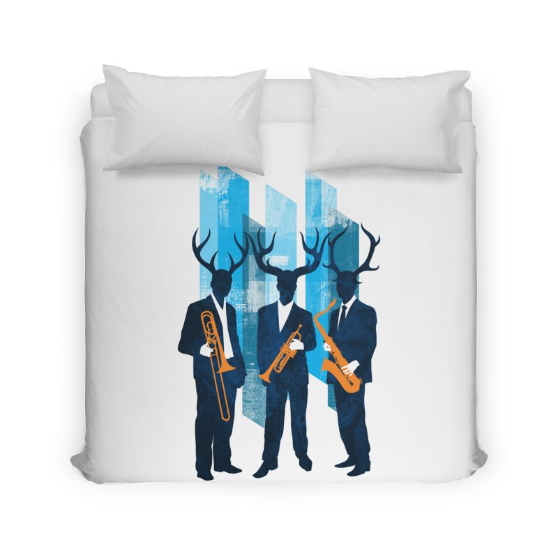 Horn Section Home Duvet by Joe Conde