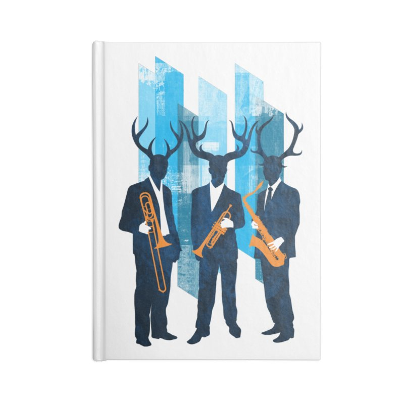Horn Section Accessories Lined Journal Notebook by Joe Conde