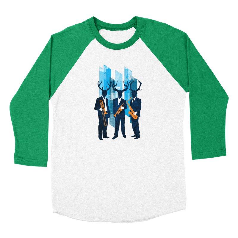 Horn Section Women's Baseball Triblend Longsleeve T-Shirt by Joe Conde