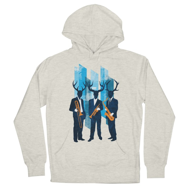 Horn Section Men's French Terry Pullover Hoody by Joe Conde