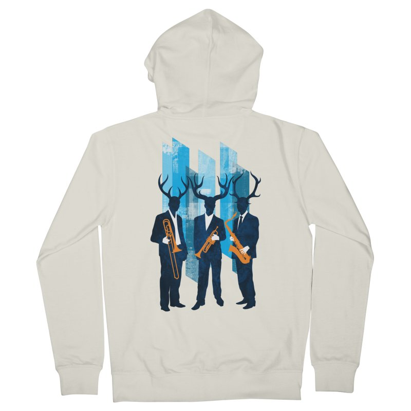 Horn Section Men's French Terry Zip-Up Hoody by Joe Conde