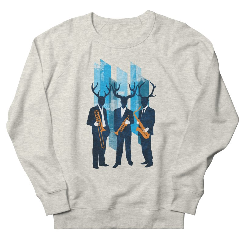 Horn Section Men's French Terry Sweatshirt by Joe Conde