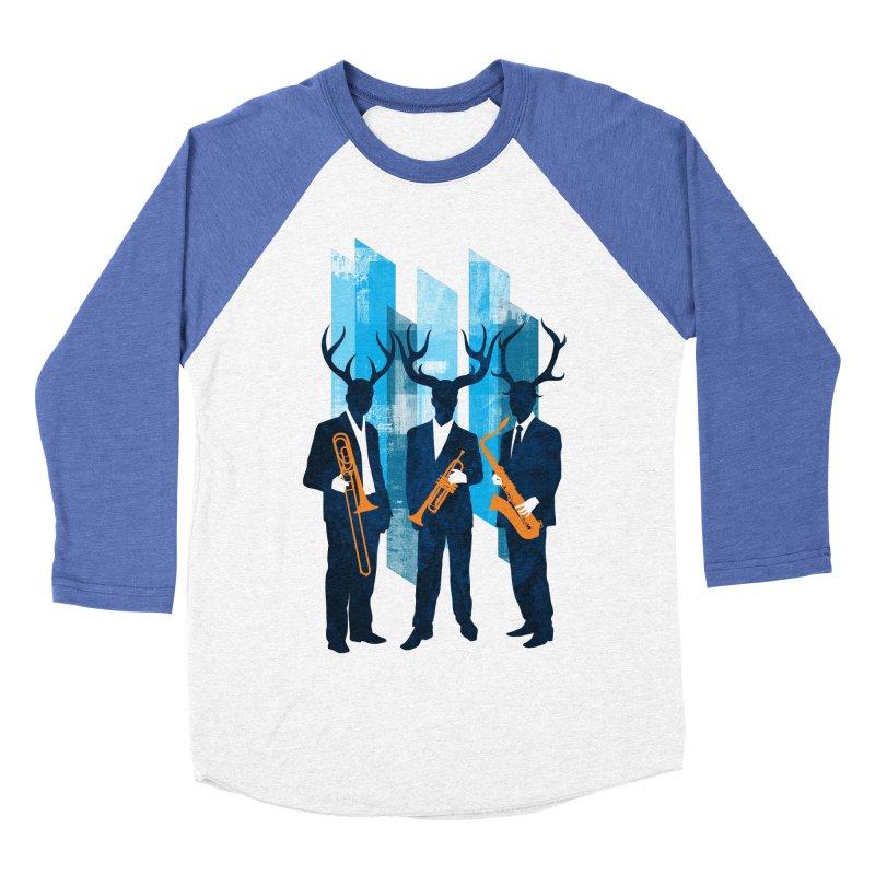 Horn Section Men's Baseball Triblend Longsleeve T-Shirt by Joe Conde