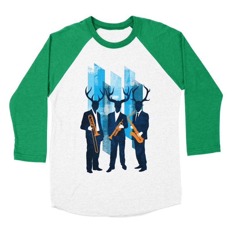 Horn Section Men's Baseball Triblend T-Shirt by Joe Conde