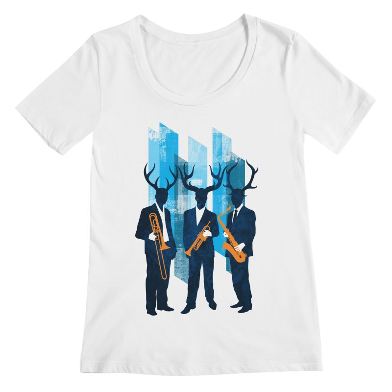 Horn Section Women's Scoopneck by Joe Conde
