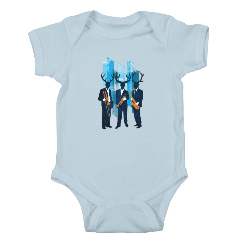 Horn Section Kids Baby Bodysuit by Joe Conde