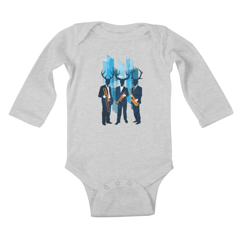 Horn Section Kids Baby Longsleeve Bodysuit by Joe Conde