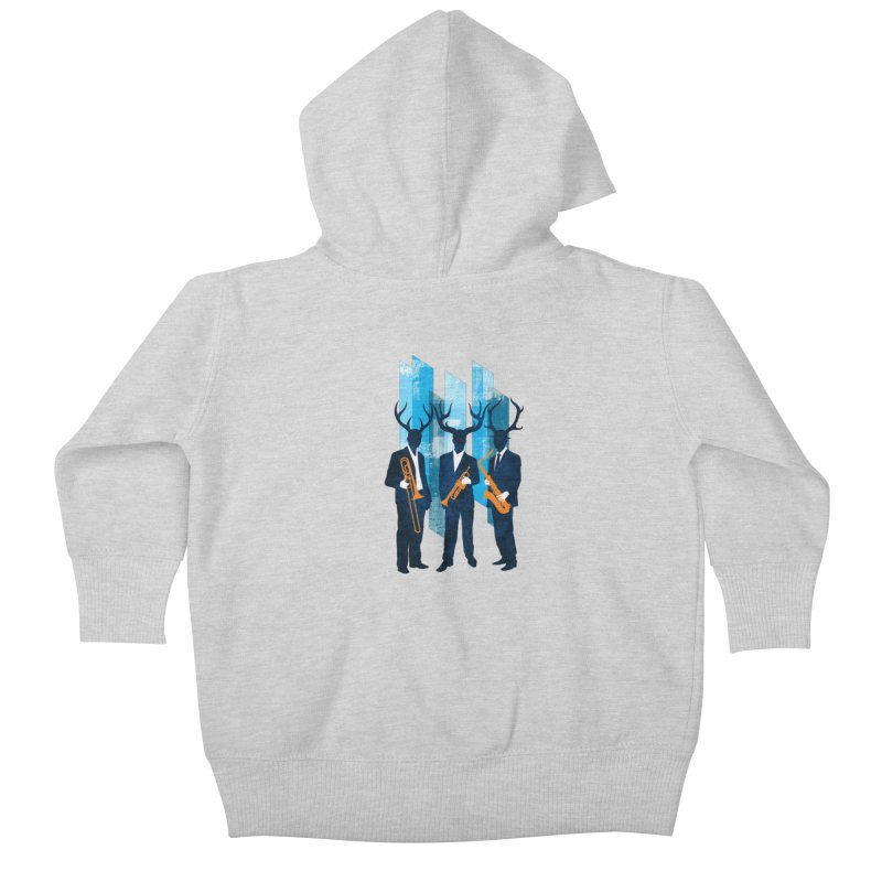 Horn Section Kids Baby Zip-Up Hoody by Joe Conde