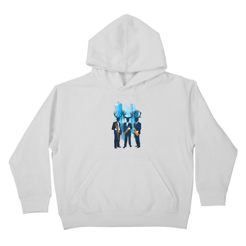 Horn Section Kids Pullover Hoody by Joe Conde