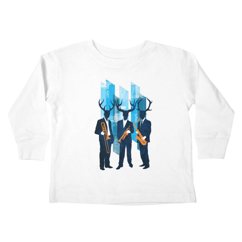 Horn Section Kids Toddler Longsleeve T-Shirt by Joe Conde