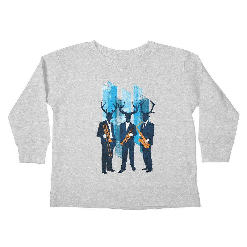 Horn Section Kids Toddler Longsleeve T-Shirt by Joe Conde