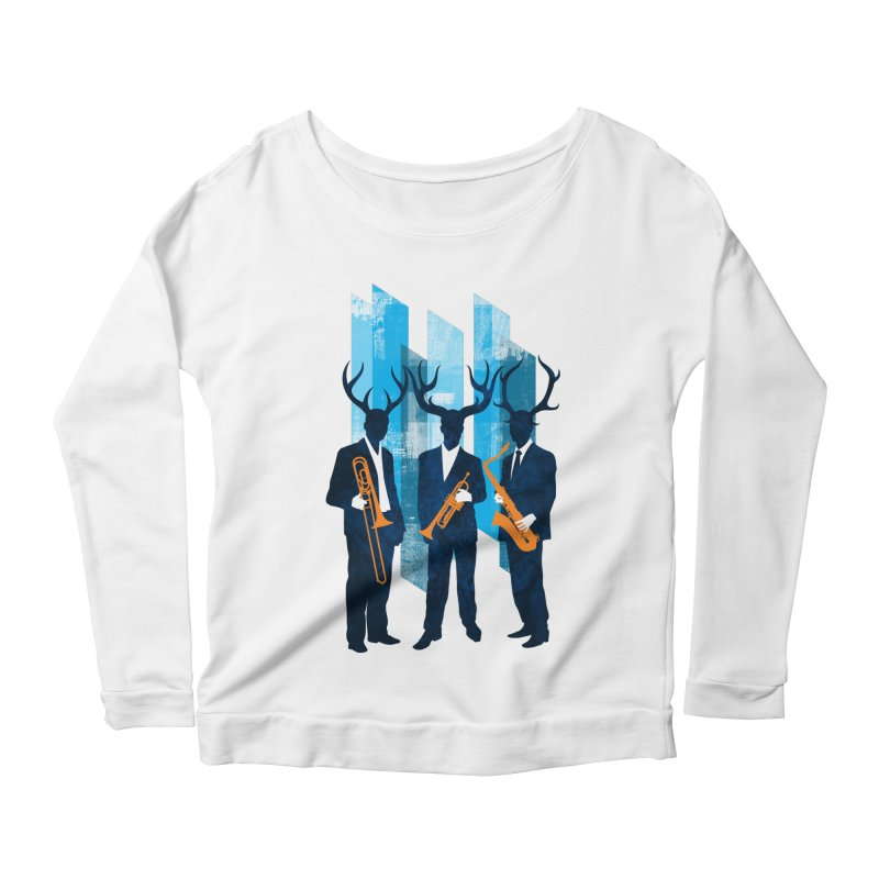 Horn Section Women's Scoop Neck Longsleeve T-Shirt by Joe Conde
