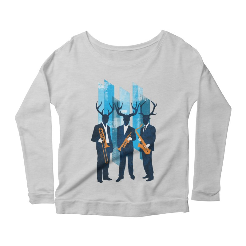 Horn Section Women's Scoop Neck Longsleeve T-Shirt by Joe Conde