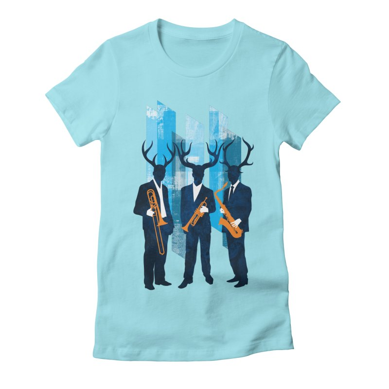 Horn Section Women's Fitted T-Shirt by Joe Conde