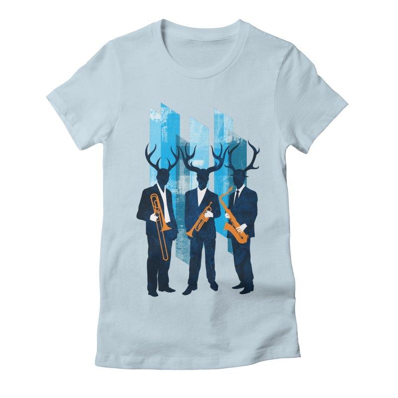Horn Section Women's T-Shirt by Joe Conde