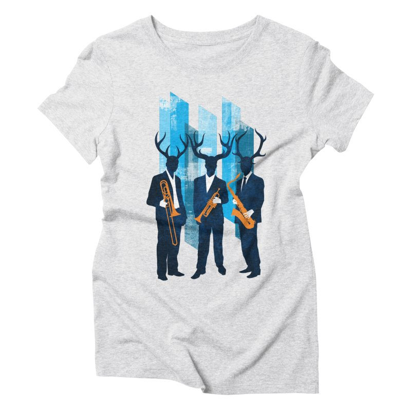 Horn Section Women's Triblend T-Shirt by Joe Conde