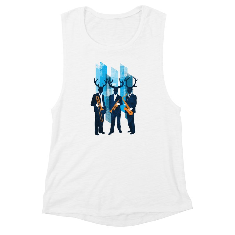 Horn Section Women's Muscle Tank by Joe Conde