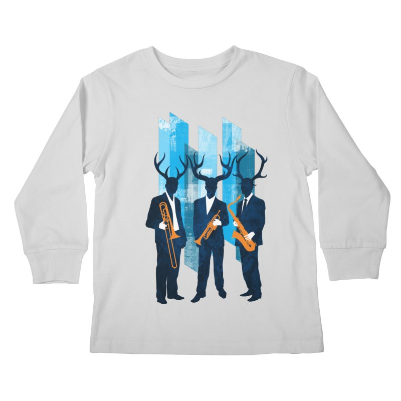Horn Section Kids Longsleeve T-Shirt by Joe Conde