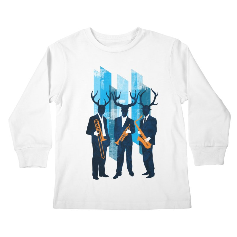 Horn Section Kids Longsleeve T-Shirt by Joe Conde
