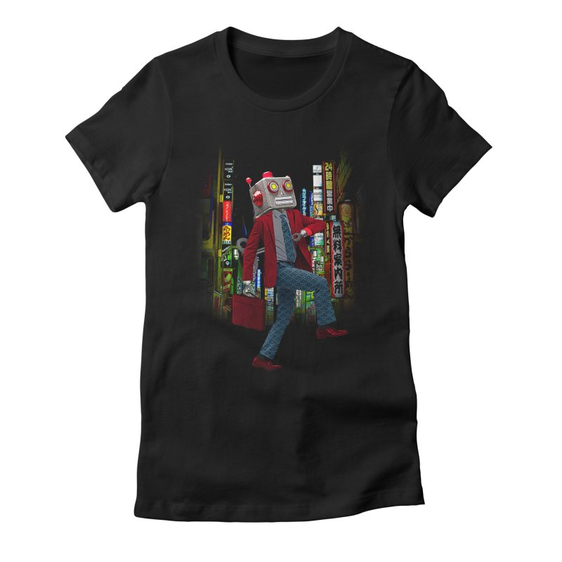 Mr. Roboto Women's Fitted T-Shirt by Joe Conde